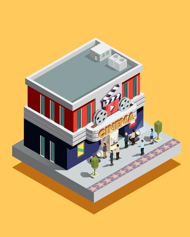 Isometrische Kino-Illustration
