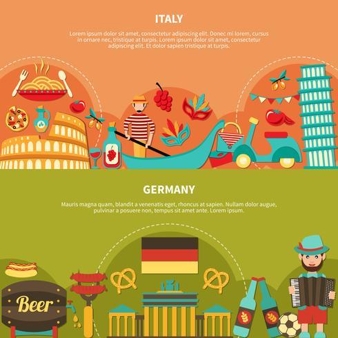 Itália Alemanha Banners horizontais