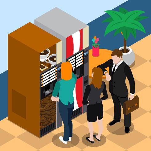Illustration de distributeur automatique de café