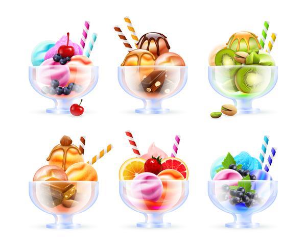 Sorbet Icecream Glassatz