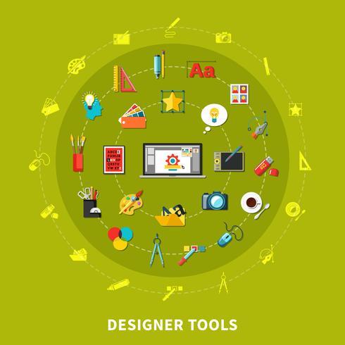 Designer Tools Farbiges Konzept