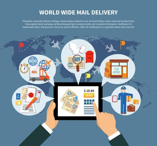Postdienste Online Design vektor