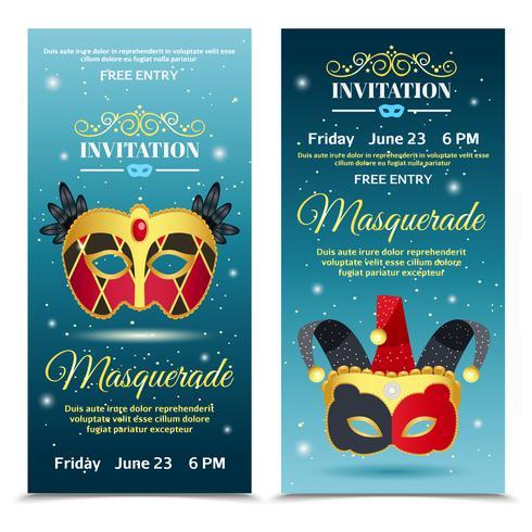 Banners verticais de convite de carnaval