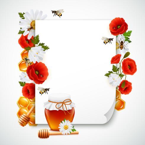 Composizione di carta e miele vettore