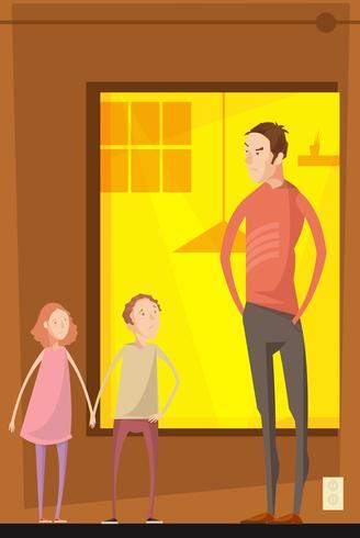 Padre Abusing Children Composition