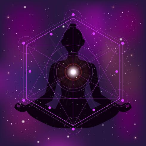 Ilustração de zen geometria sagrada vetor
