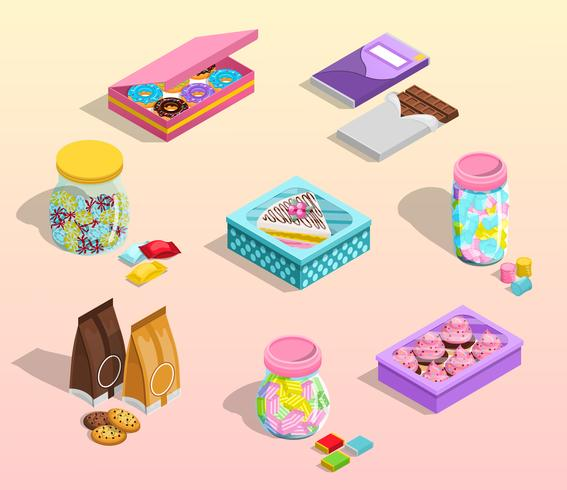 Confectionery Packaging Set vector