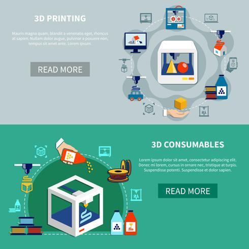 Prototyping van horizontale banners met 3d-printproces