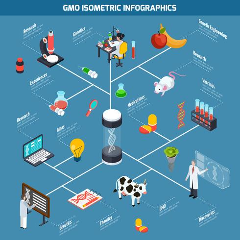 Infografía isométrica de OGM