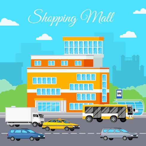 Composizione urbana del centro commerciale