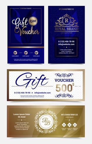 Gift Voucher Design Set