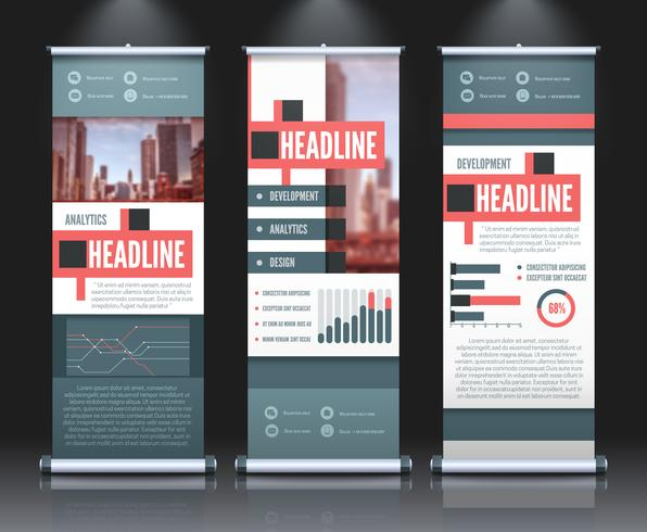 Rollup Infographic Banners Set vector