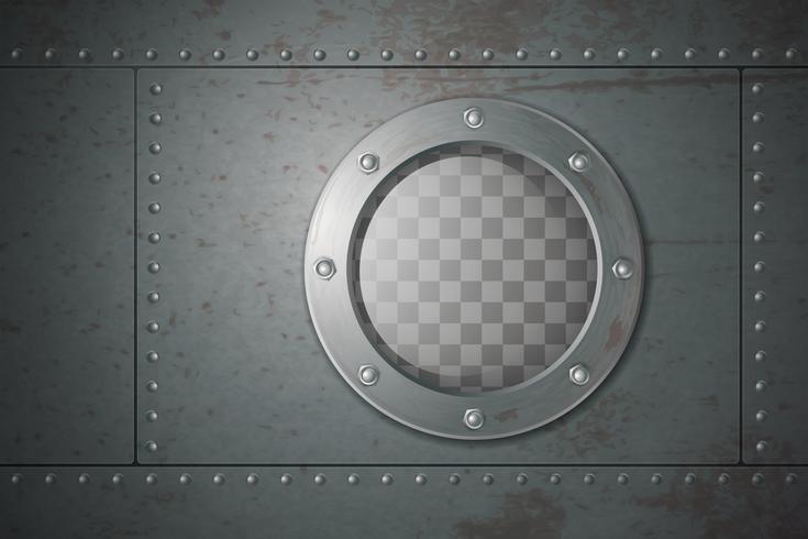 Submarine Side Porthole Illustration  vector