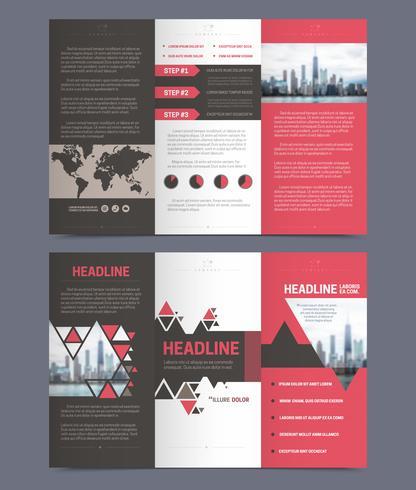 Three fold flyer template