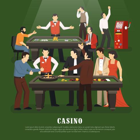 Illustration du concept de casino vecteur