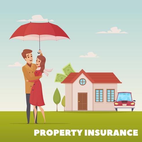 Concepto de diseño de seguro de propiedad vector