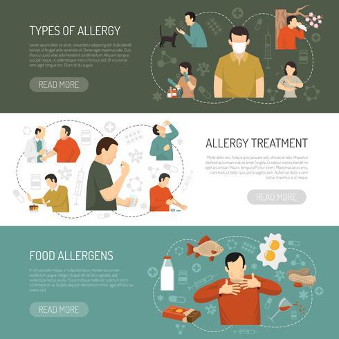 Three Allergy Banner Set