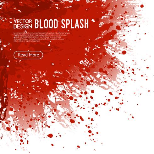 Poster di design di pagina web sfondo di sangue splash