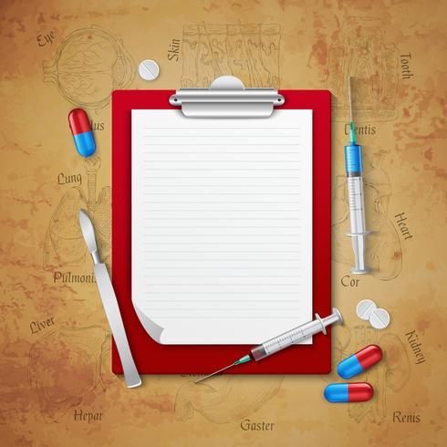 Cuaderno Médicos Composición Médica vector