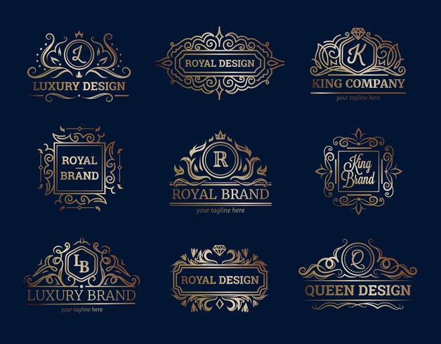 Designset für Luxus-Etiketten
