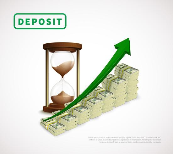 Money Prosperity Realistic Business Template vektor