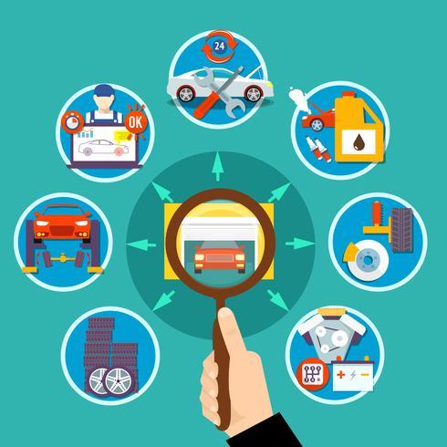 Conceito de Design de Auto Service Circle