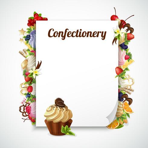 Cornice decorativa confetteria