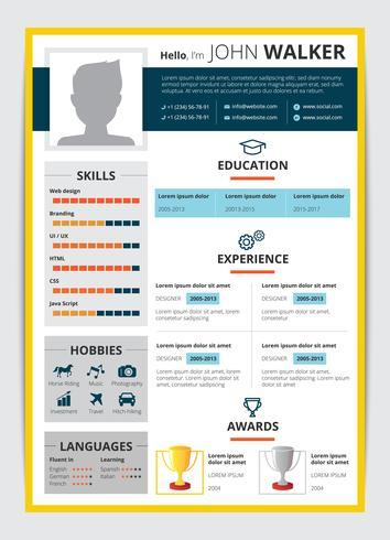 Job Candidate CV-sjabloon vector