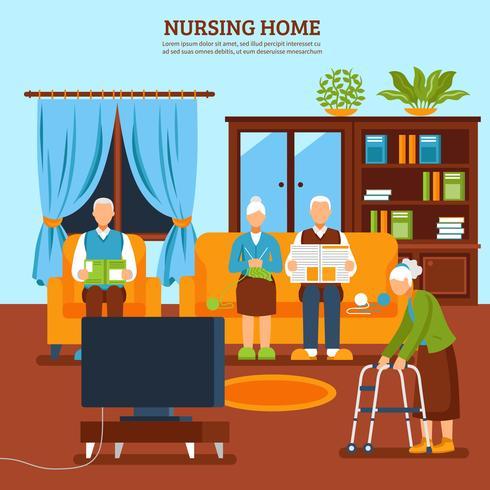 Composizione dell'interno di professione d'infermiera anziana