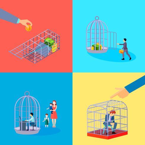 Ensemble de cages de bureau