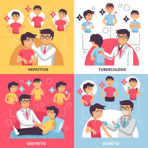Diagnose Ziekten Conceptuele samenstelling vector