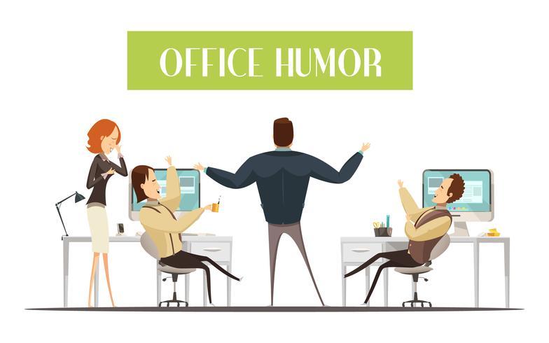 Office Humor Cartoon stijl illustratie