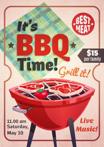Barbecue Time Restaurant Poster