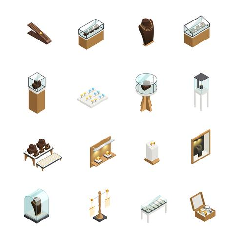 Smycken Shop Isometric Elements