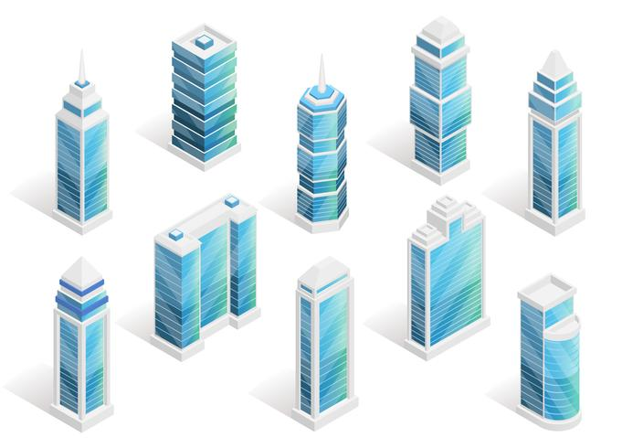 City Houses Isometric Set