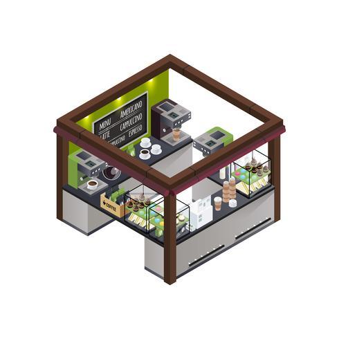Composition isométrique du kiosque à café