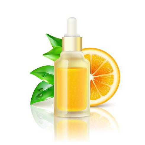 Citrus Vitamin Naturlig C Realistisk Bild