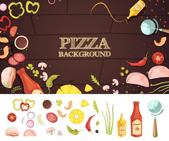 pizza tecknad stil stil koncept vektor