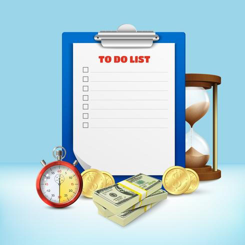 To Do List Composition vector