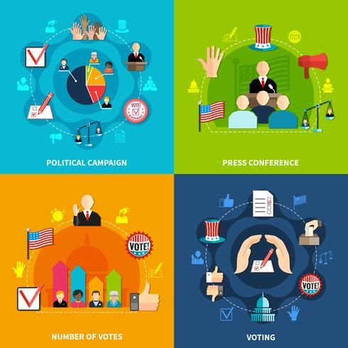 Conjunto de conceito de eleições vetor