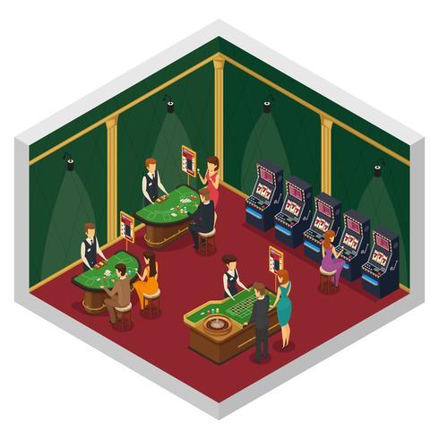 Isometrische Innenzusammensetzung des Kasinos