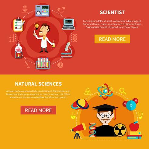 Naturvetenskapliga banderoller vektor