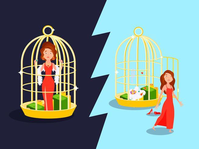 Concept mariage cage dorée