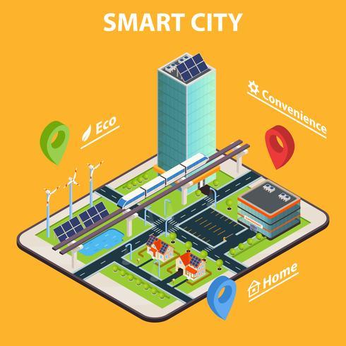 Intelligentes Stadt-Tablet-Konzept
