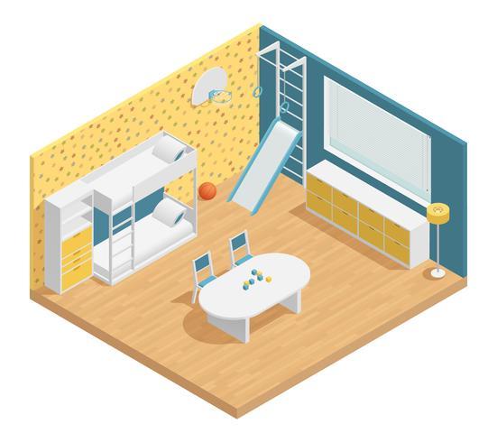 Composición de la habitación de los niños