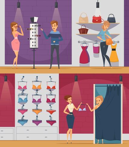 Proeven van winkelflatmedewerkers proberen
