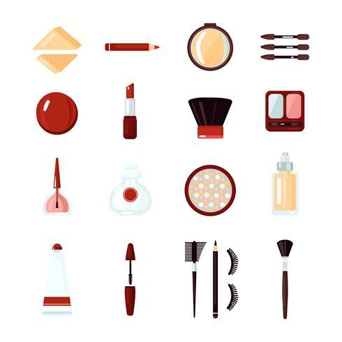 Set di icone di cosmetici vettore