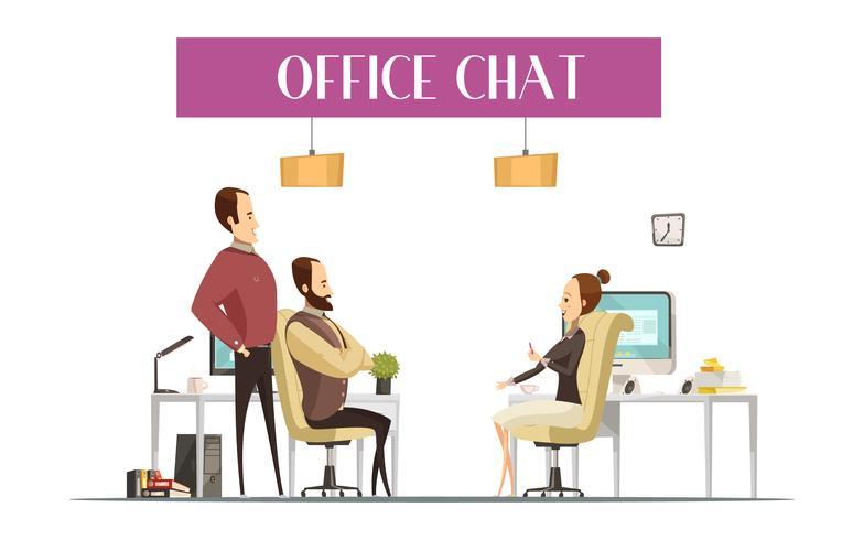 Composizione in stile fumetto di Office Chat
