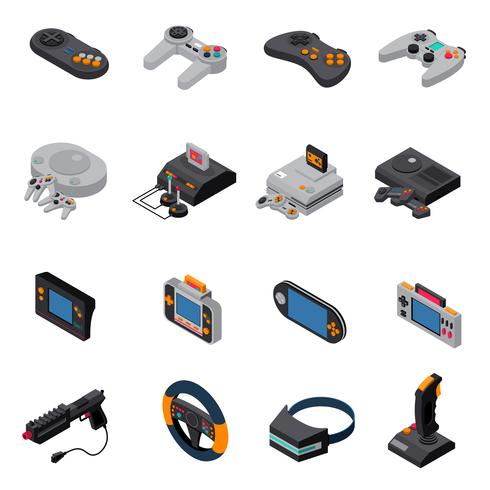 Juego Gadgets Isometric Icons Collection