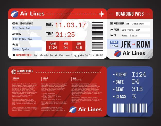 Diseño de la tarjeta de embarque